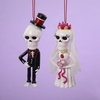 Item # 105596 - Day Of The Dead Skull Groom/Bride Ornament