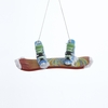 Item # 105600 - Painted Snowboard With Shoes Christmas Ornament