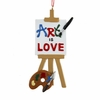 Item # 105602 - Art Is Love Christmas Ornament