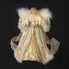 Item # 105648 - Ivory/Gold Angel Christmas Tree Topper With 10 Lights