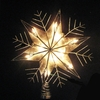 Item # 105653 - Silver Capiz/Wire Snowflake Tree Topper