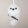 Item # 105700 - White Owl With Branch Ornament
