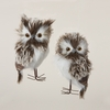 Item # 105702 - Furry Brown Owl Ornament - 2 Piece Set