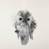 Item # 105704 - Furry Gray Owl Christmas Ornament