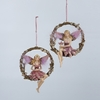 Item # 105716 - Plum Fairy On Round Branch Ornament