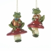 Item # 105718 - Mushroom Gnome Frog Christmas Ornament