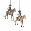 Item # 105726 - Cowboy/Cowgirl On Horse Ornament
