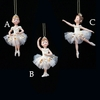 Item # 105730 - Ivory/Gold Little Ballet Christmas Ornament