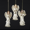 Item # 105738 - Ivory/Gold Angel With Scroll Design Ornament