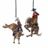 Item # 105748 - Western Bull/Bronco Rider Christmas Ornament