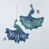 Item # 105817 - Blue/Green Glitter Peacock Ornament