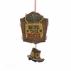 Item # 105871 - Western Door Plaque With Boots Christmas Ornament