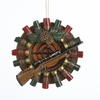 Item # 105877 - Target Wreath With Gun & Shells Ornament
