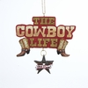 Item # 105878 - Painted The Cowboy Life Sign Christmas Ornament