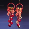 Item # 105883 - Red/Red & Gold Jingle Bell Cluster Ornament