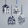Item # 105888 - Blue Delft LED House Ornament