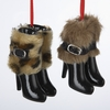 Item # 105916 - Boots With Fur Christmas Ornament