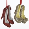 Item # 105917 - Red/Gold Glittered High Heel Shoes Christmas Ornament