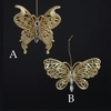Item # 105930 - Gold Glitter Butterfly Christmas Ornament