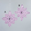 Item # 105936 - Plum/Silver Snowflake Christmas Ornament