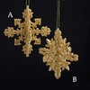 Item # 105944 - Gold Glitter Snowflake Christmas Ornament