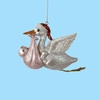 Item # 105953 - Stork With Baby Christmas Ornament