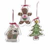 """Item # 105964 - 4.7"""" House/Gingerbread Man/Christmas Tree Cookie Cutter Christmas Ornament"""