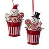 "Item # 105967 - 3.5"" Snowman In Bucket Christmas Ornament"