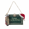 "Item # 105972 - 4"" Resin Gone Golfing Sign Christmas Ornament"