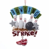 "Item # 105990 - 4.25"" Resin Bowling Strike Christmas Ornament"