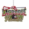 "Item # 106002 - 3.5"" Resin Lacrosse Rocks Christmas Ornament"