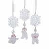 "Item # 106009 - 6"" Snowflake With Snowman Ornament"