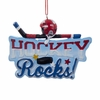 "Item # 106014 - 3.75"" Resin Hockey Rocks Christmas Ornament"
