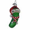 "Item # 106029 - 3.5"" Glass Noble Gems Pickle Christmas Ornament"