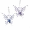 "Item # 106035 - 5"" Frosted Kingdom Butterfly With Clip Christmas Ornament"