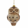 "Item # 106051 - 3.75"" Glass Owl Christmas Ornament"