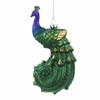 "Item # 106052 - 5.5"" Glass Peacock Ornament"