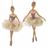 "Item # 106059 - 6.5"" Resin Pink Ballerina Christmas Ornament"