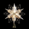 Item # 106115 - 6 Point Star With Scroll Design Tree Topper With 10 Lights