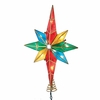 Item # 106118 - Multicolor Bethlehem Star With Center Gem Tree Topper With 10 Lights