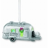 Item # 108173 - Porcelain Silver Camper Ornament