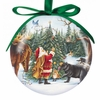 Item # 108196 - Santa With Animals Ball Christmas Ornament