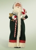 Item # 113500 - Green Santa With Candy Cane Byers' Choice Collectible