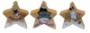 "Item # 127135 - 4.5"" Wood Snowman Star Ornament"