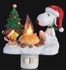 Item # 134005 - Flickering Snoopy & Woodstock By Fire Nightlight