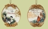 "Item # 134097 - 3.5"" Chickadee/Cardinal Ornament"