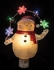 "Item # 134156 - 7.75"" Snowman With LED Garland Nightlight"