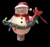 "Item # 134235 - 6.25"" Snowman With LED Garland Nightlight"