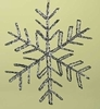 Item # 134518 - Glittered Wire Snowflake Christmas Ornament
