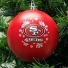 Item # 141012 - San Francisco 49ers Shatterproof Christmas Ornament